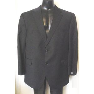 Jos. A Bank Black Wool Blazer 46R Wedding Event EC